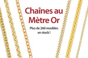 chaînes au mètre en or