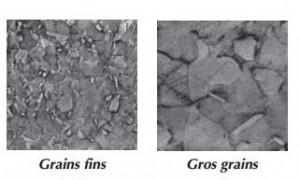 gros grains et fins grains