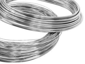 fils rond argent métal