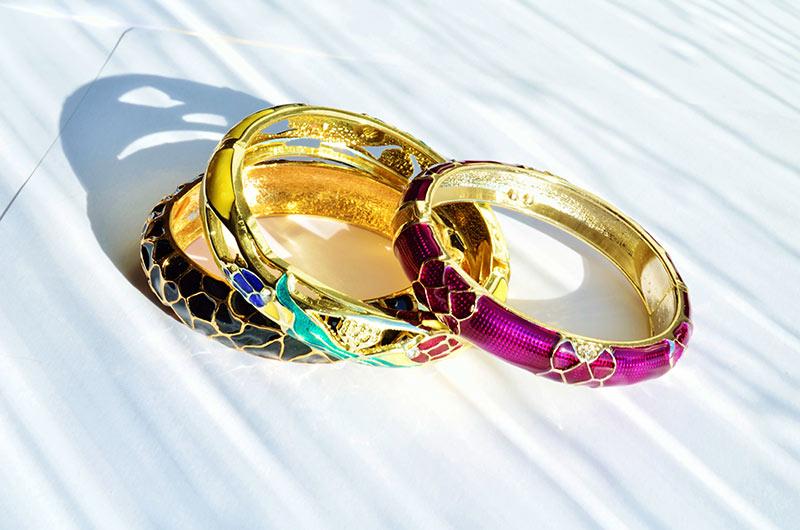 bijoux en argent cloisonné à emailler